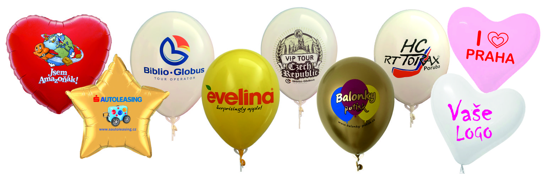 balonky s potiskem mix